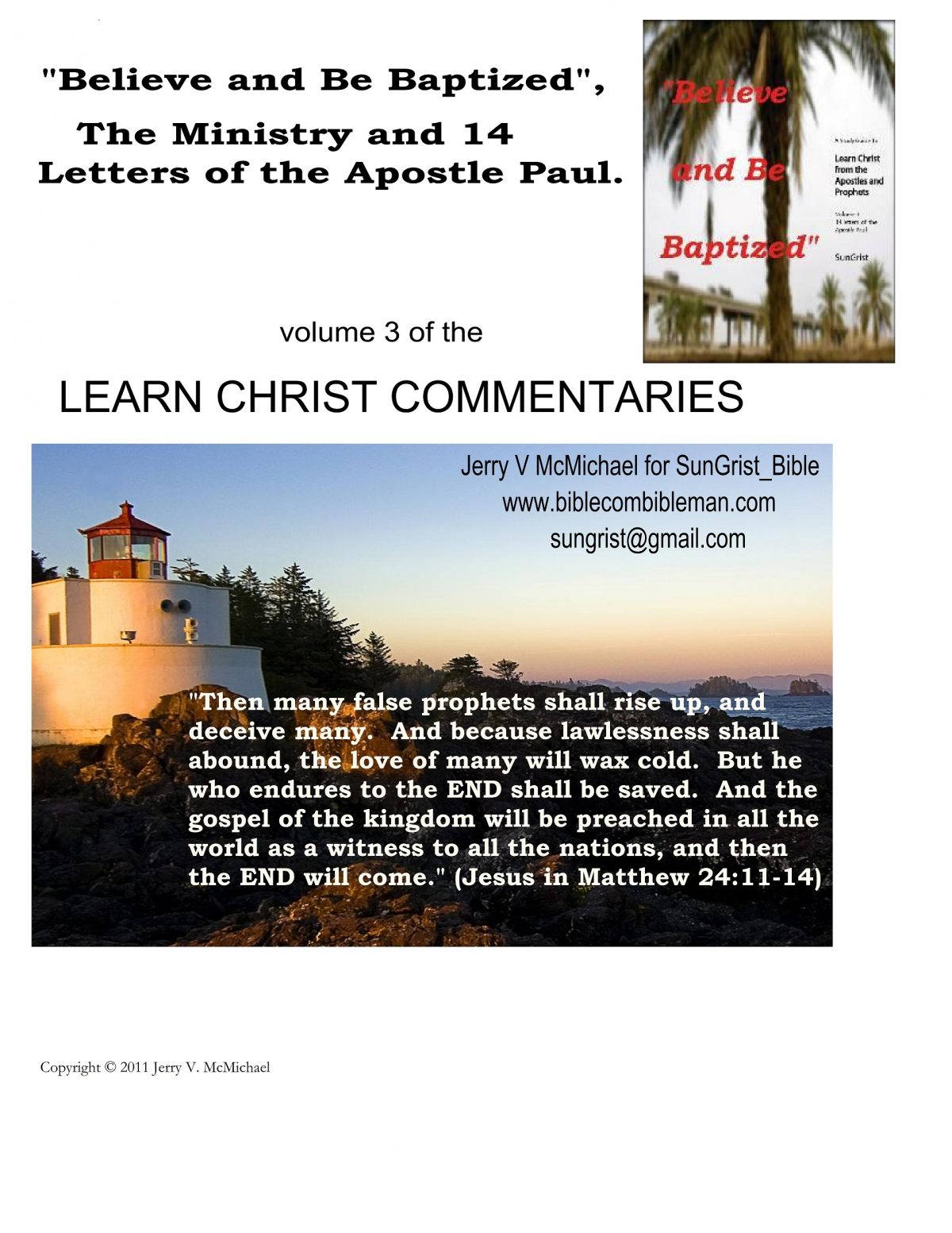 About Life and Letters of Paul