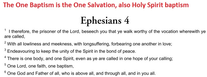 Baptism is the One Salvation